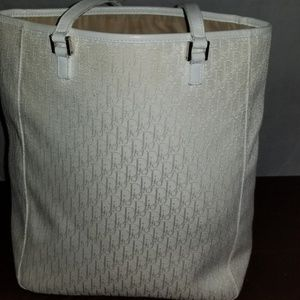 Vintage White Canvas Dior Tote